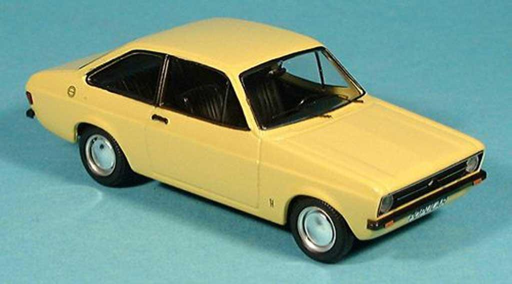 Ford Escort MK2 1/43 Trofeu 1100 jaune miniature