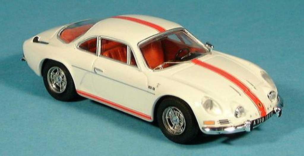 Alpine A110 1/43 Trofeu 1600 S bianco mit Streifen modellino in miniatura