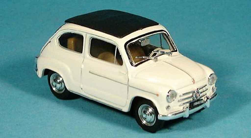 Fiat 600 1/43 Brumm D geschlossen creme 1960 diecast