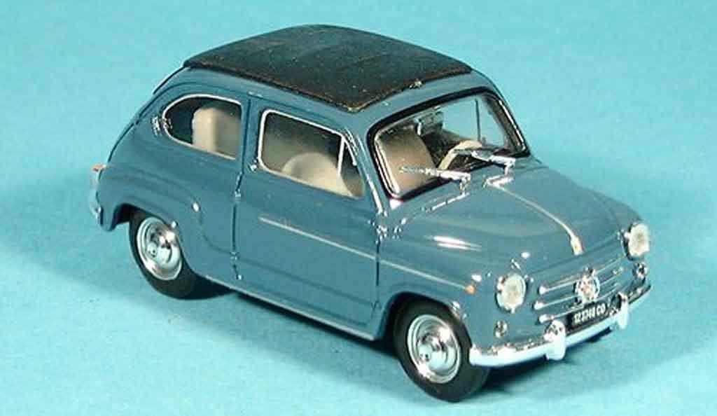 Fiat 600 1/43 Brumm D geschlossen bleugray 1960 diecast