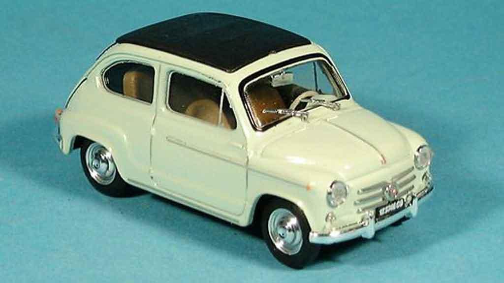 Fiat 600 1/43 Brumm D geschlossen grun 1960 miniature