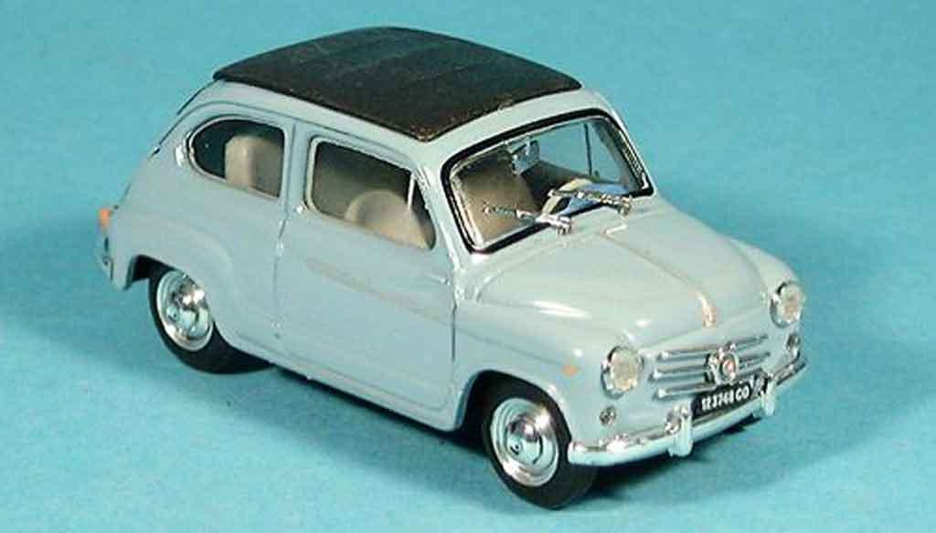 Fiat 600 1/43 Brumm D geschlossen bleu 1960 miniature