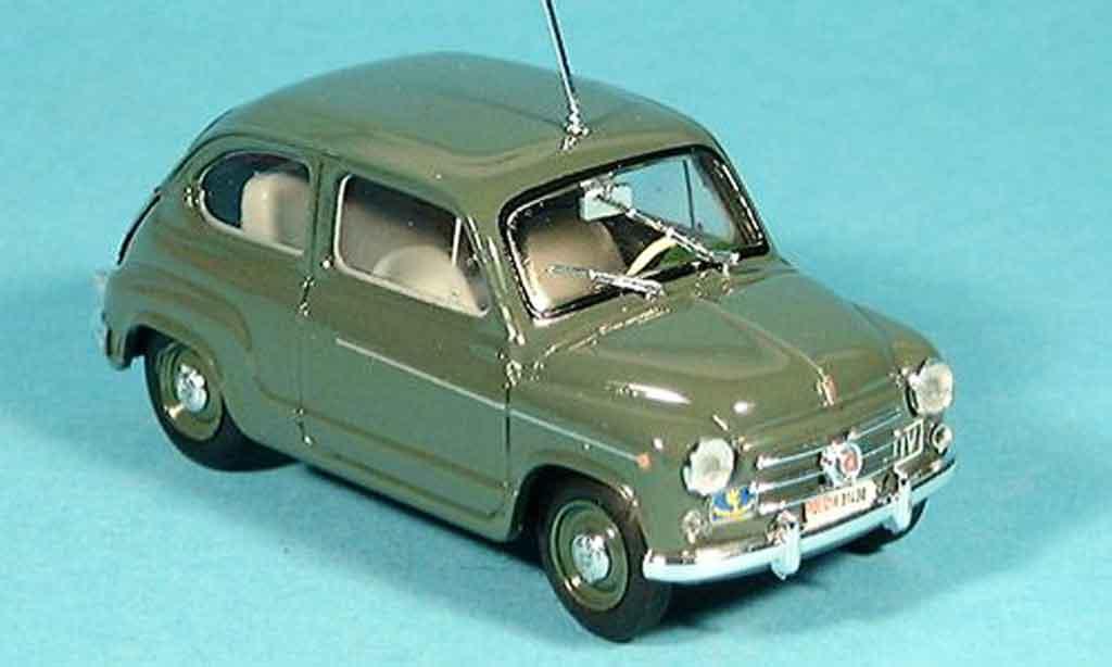 Fiat 600 1/43 Brumm D police Zivilstreife 1960 miniature