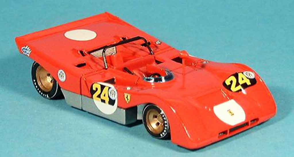 Ferrari 312 PB 1/43 Brumm no.24 ignazio giunti buenos aires 1971 miniature