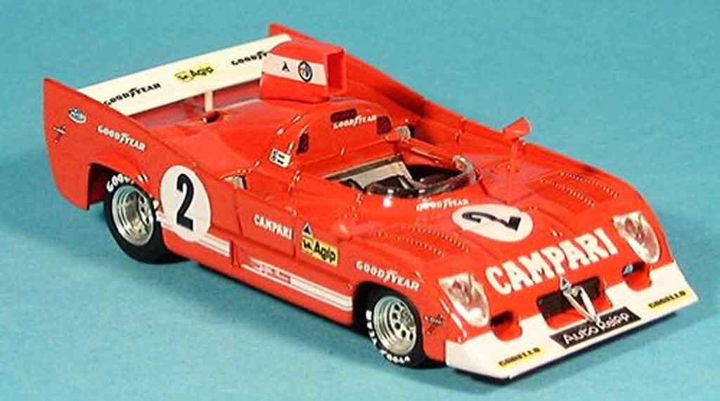 Alfa Romeo 33.3 1975 1/43 Brumm tt 12 no.2 pescarolo bell sieger 1000 km spa miniature
