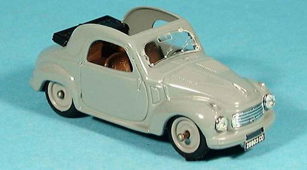 Fiat 500 1/43 Brumm C offen gray 1949 diecast