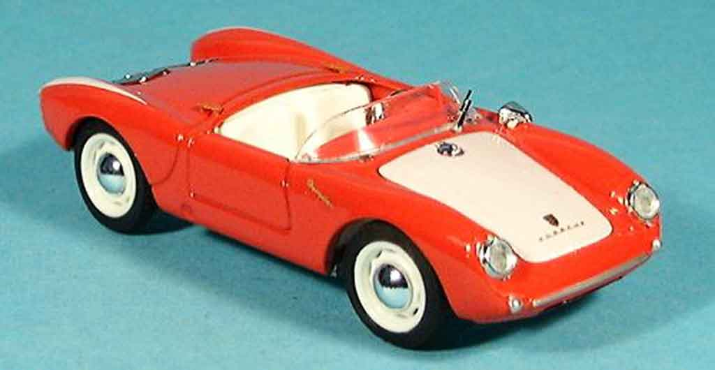 Porsche 550 1954 1/43 Brumm  rouge blanche Strassenversion miniature