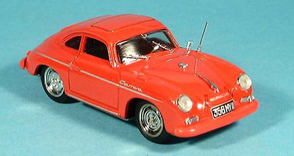 Porsche 356 1952 1/43 Brumm Coupe Carrera rouge miniature