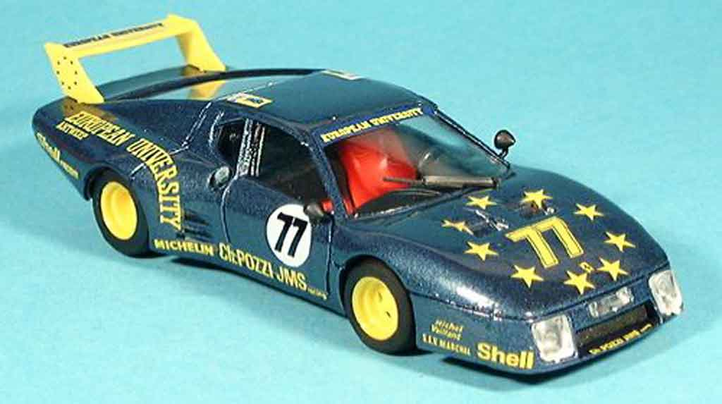 Ferrari 512 BB LM 1/43 Brumm no.77 pozzi le mans 1980 coche miniatura