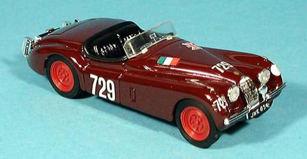 Jaguar XK 120 1/43 Brumm mille miglia 1950 modellino in miniatura