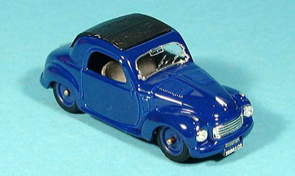 Fiat 500 1/43 Brumm C Chiusa bleu 1949 diecast model cars