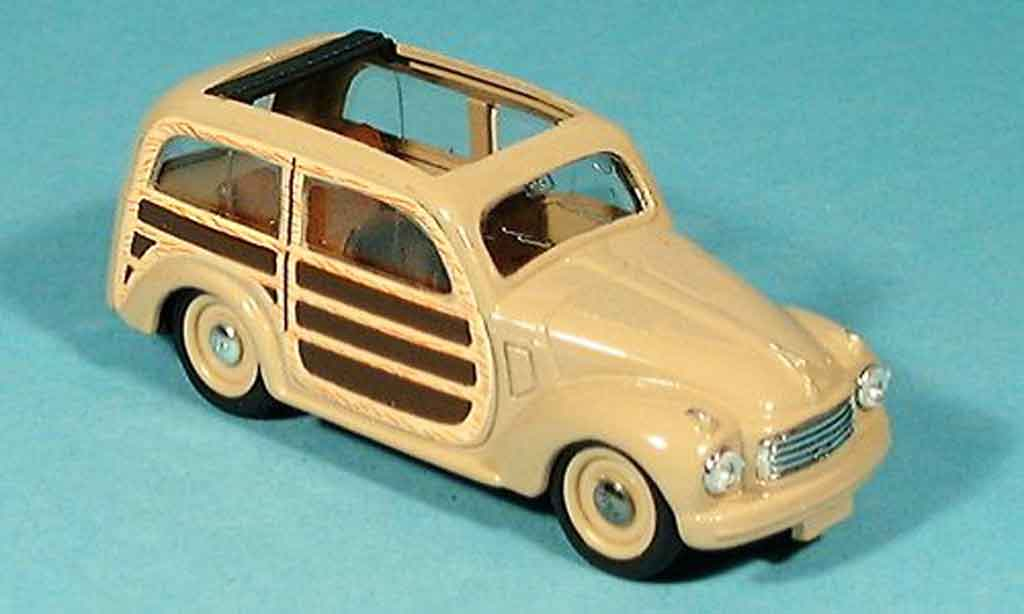 Fiat 500 1/43 Brumm C GiardinieraAperta beige 1949 diecast