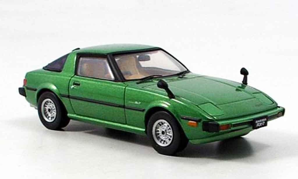 Mazda RX7 1978 1/43 Ebbro verte miniature