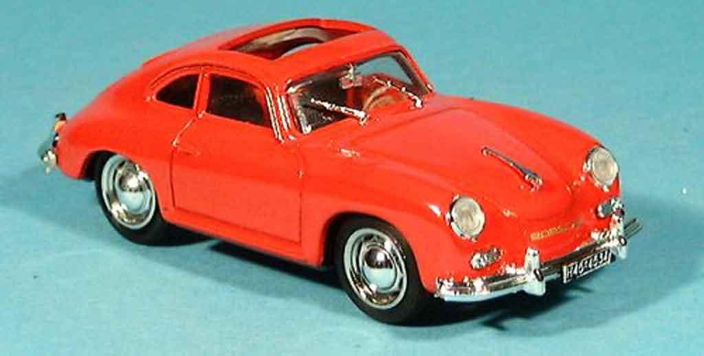 Porsche 356 1952 1/43 Brumm Coupe rouge geoffnetes Schiebedach miniature