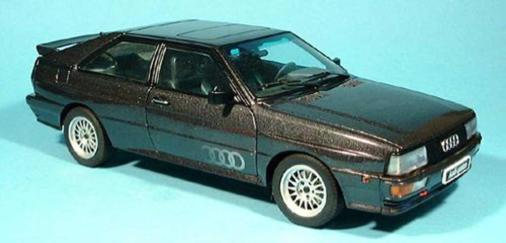 Audi Quattro 1/18 Autoart noire 1988 miniature