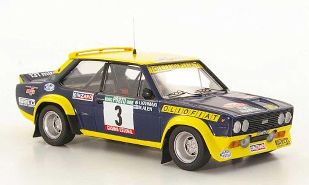 Fiat 131 Abarth 1/43 Trofeu No.3 Olio M.Alen / I.Kivimaki Rally Portugal  1977 miniature