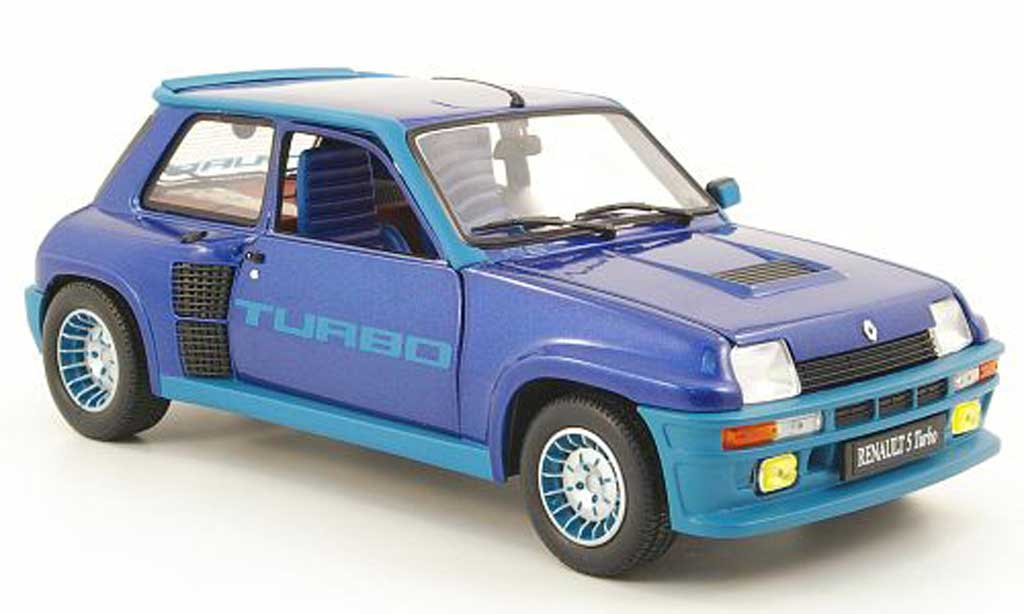 Renault 5 Turbo 1/18 Universal Hobbies bleu miniature