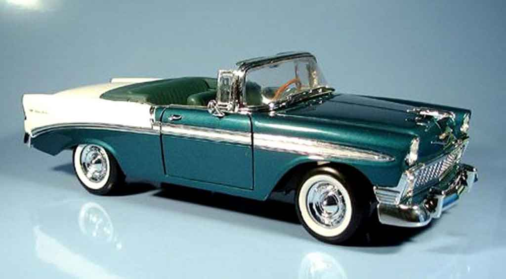 Chevrolet Bel Air 1956 1/18 Yat Ming cabriolet mit echten ledersitzen miniature