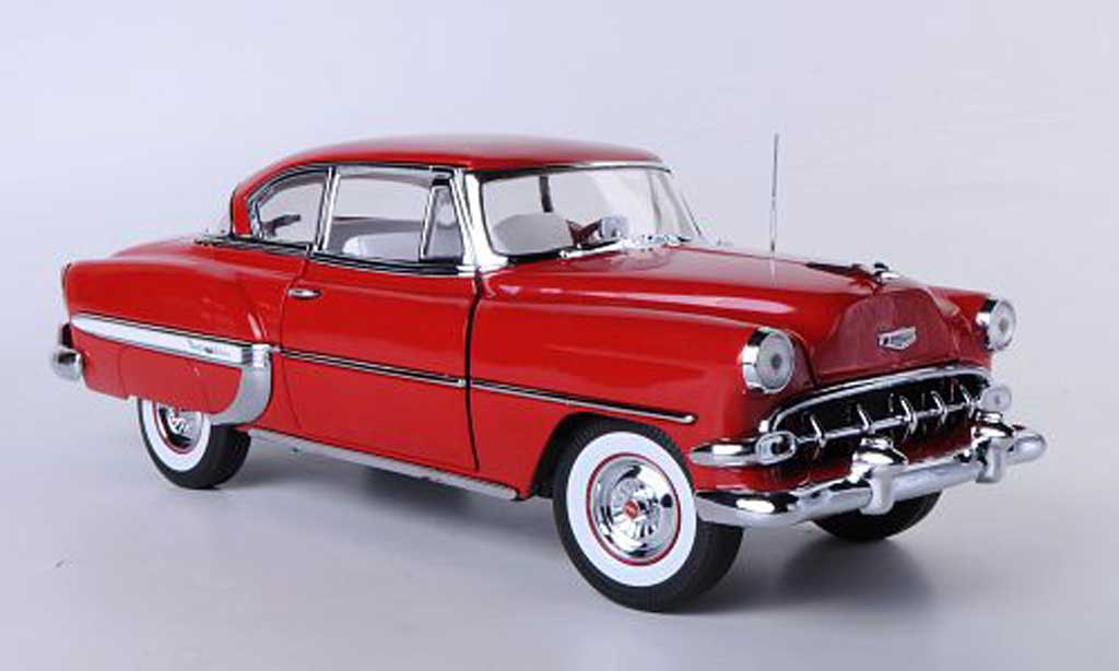 Chevrolet Bel Air 1954 1/18 Sun Star Hardtop Coupe rouge miniature