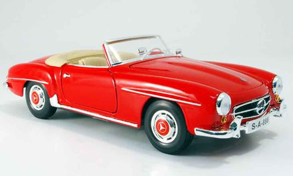 Mercedes 190 SL 1/18 Maisto rot 1955 modellautos