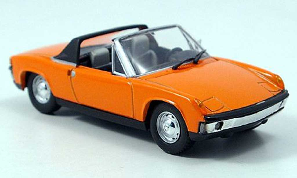 Porsche 914 1/43 Solido Targa orange 1969 miniature