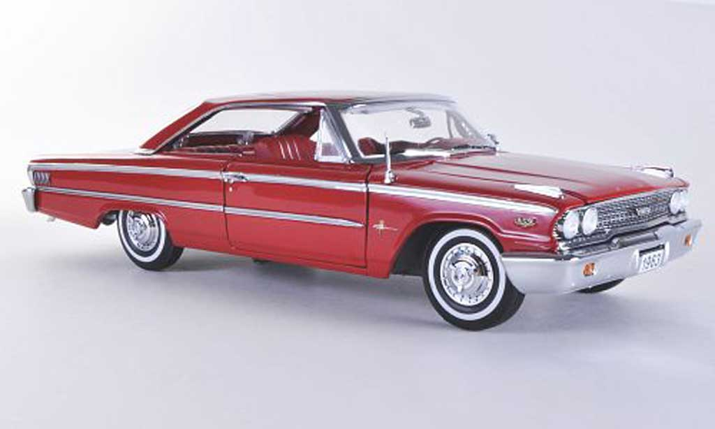 Ford Galaxy 1/18 Sun Star 500 XL red 1963 diecast model cars
