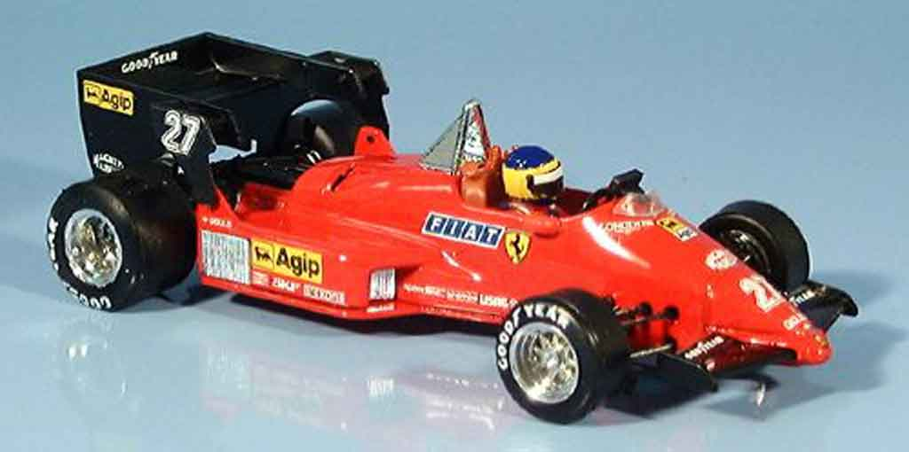 Ferrari 126 1984 1/43 Brumm C4 g.p. belgien m. alboreto modellautos