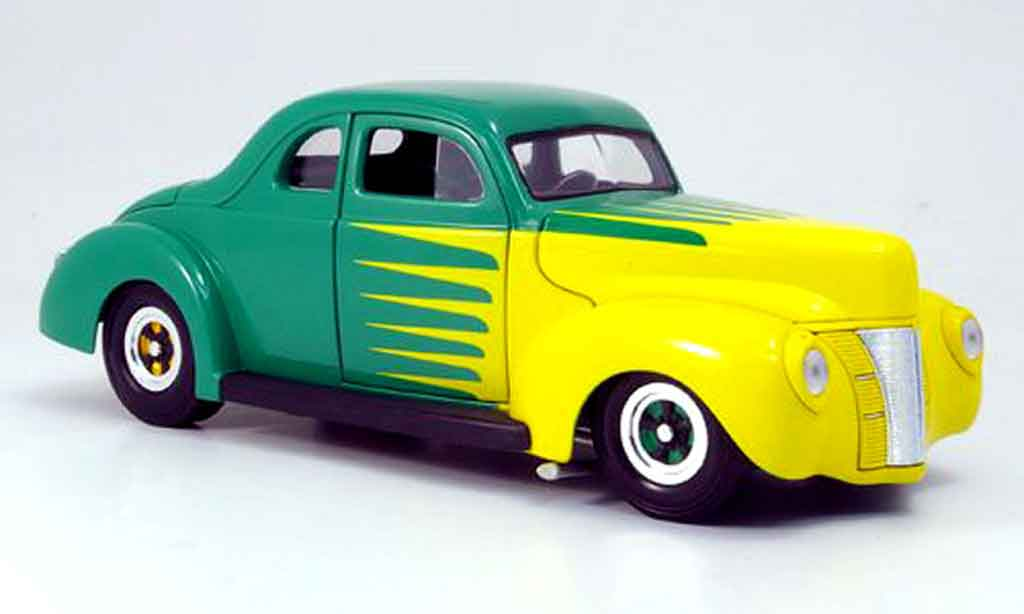 Ford Hot Rod 1/18 Eagle deluxe coupe hot rod verte/jaune 1940 miniature