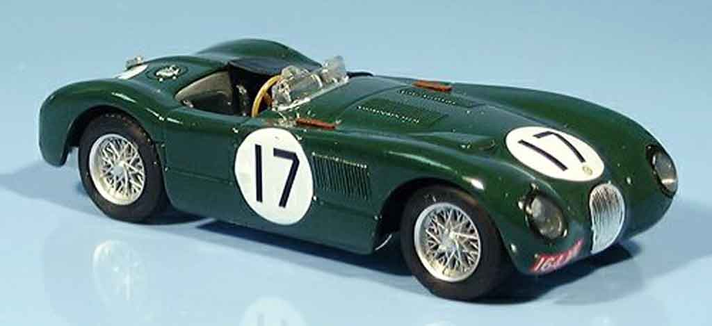 Jaguar C-Type 1/43 Brumm no.17 walker moss zweiter le mans 1953 miniature