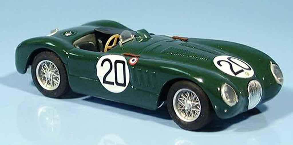 Jaguar C-Type 1/43 Brumm no.20 walker whitehead sieger le mans 1951 miniature