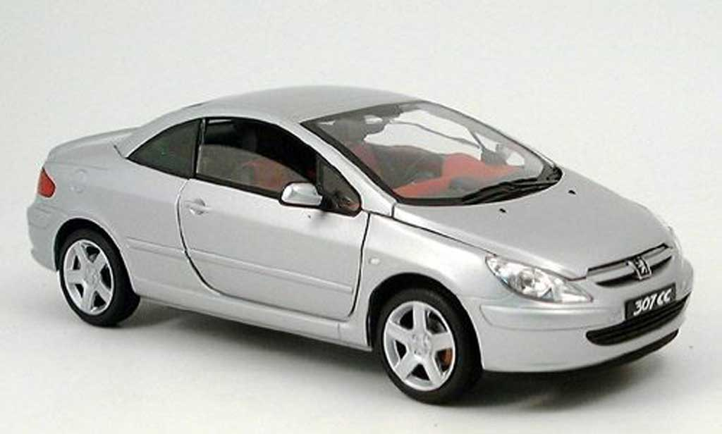 Peugeot 307 CC 1/18 Solido grey 2003 diecast model cars