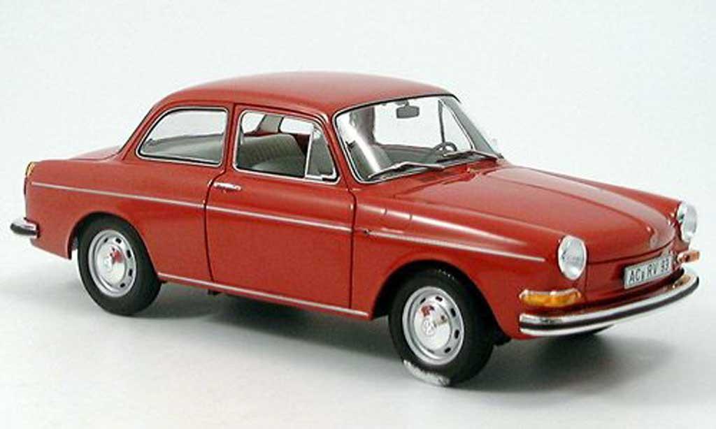 Volkswagen 1600 1/18 Minichamps l rouge 1970 miniature