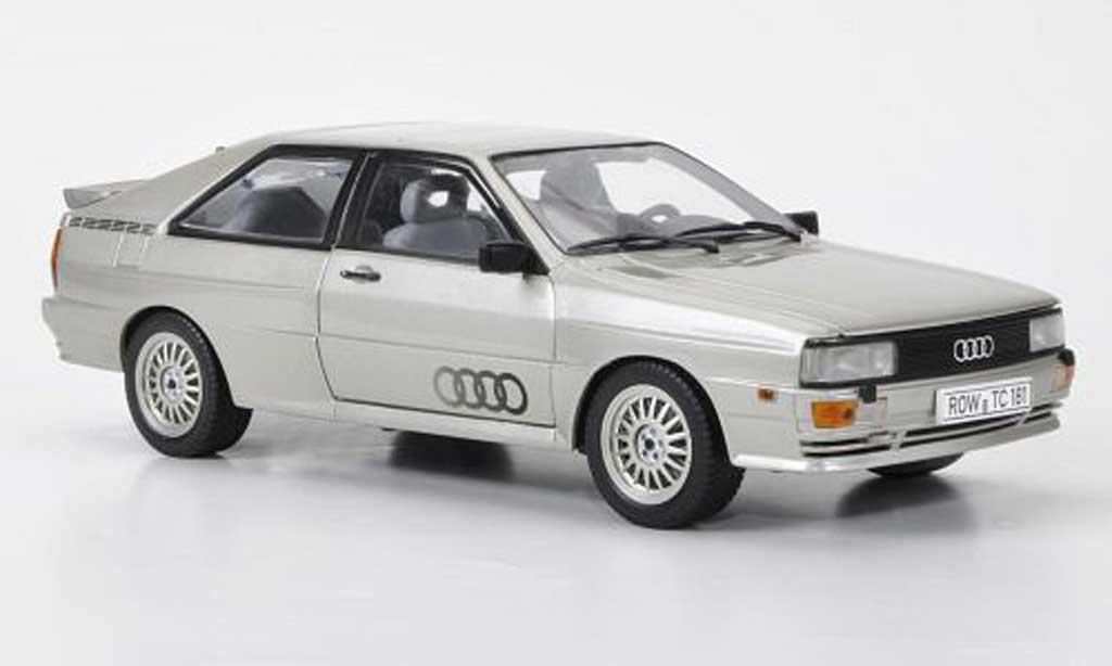 Audi Quattro 1/18 Sun Star grise metallisee 1981 miniature