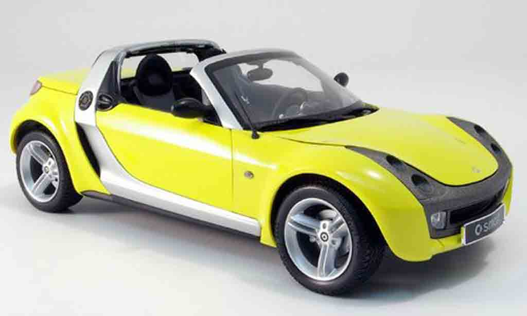 Smart Roadster 1/18 Kyosho jaune miniature