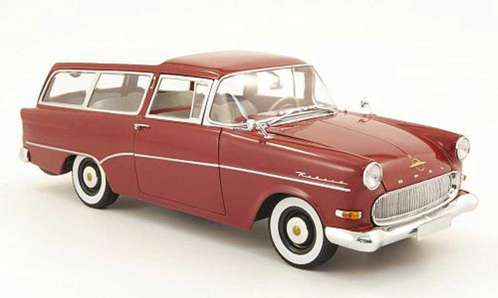 Opel Rekord 1/18 Minichamps p1 caravan rouge miniature