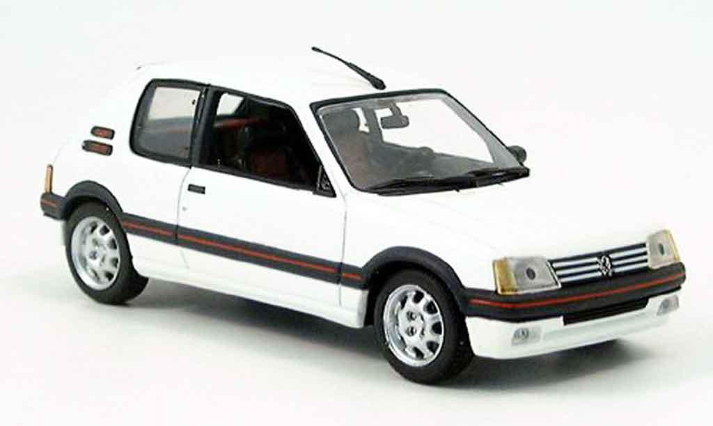 Peugeot 205 GTI 1/43 Minichamps 1.9 Blanc Meije 1990 diecast