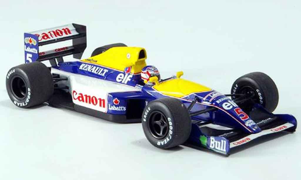 Renault F1 1/43 Minichamps williams fw14 mansell 1991 miniature