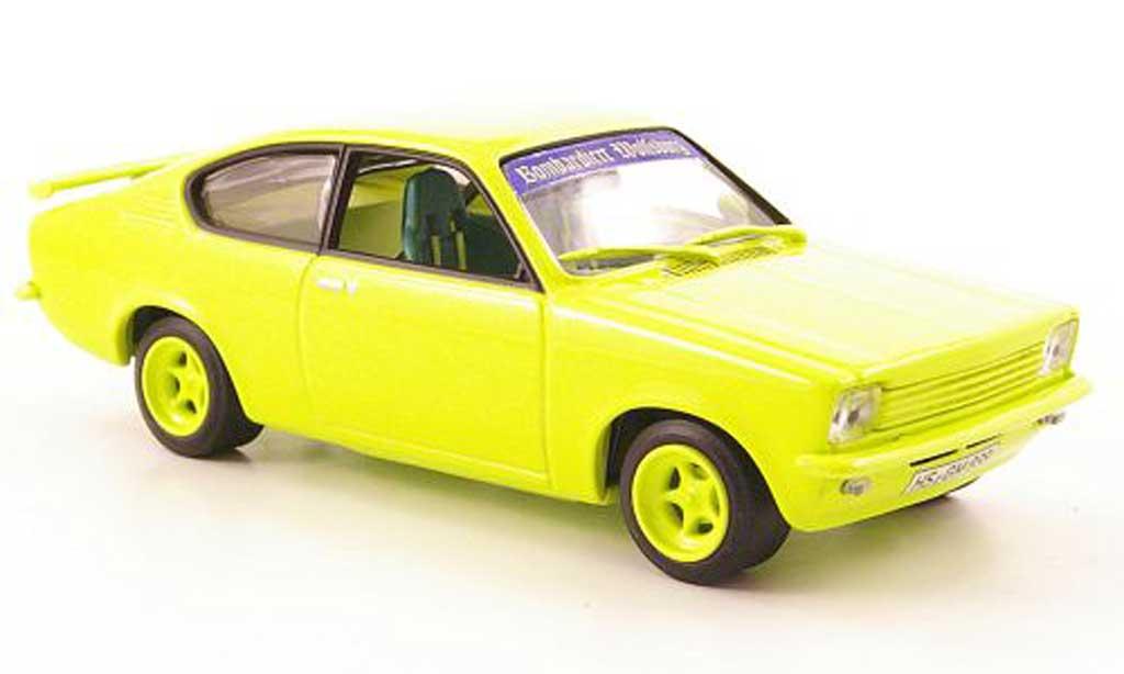 Opel Kadett C 1/43 Minichamps Street Racer oupe neonjaune miniature