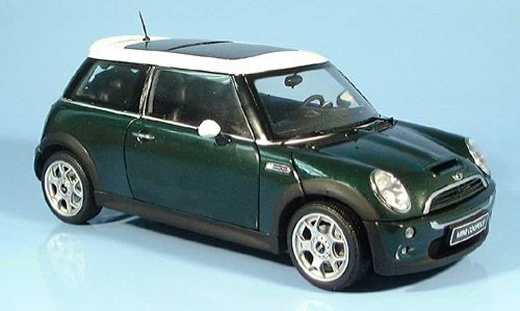 Mini Cooper S 1/18 Kyosho verte miniature