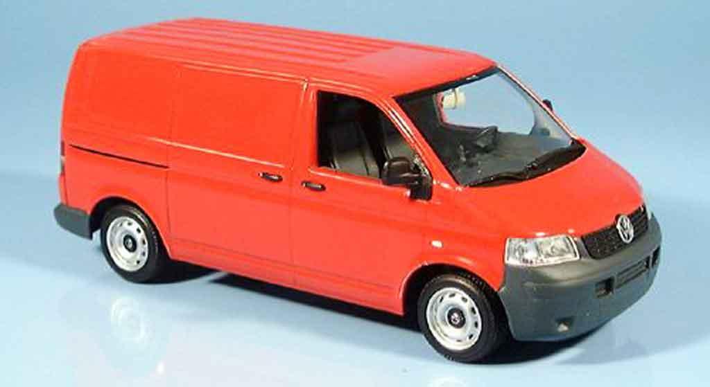 Volkswagen Combi 1/43 Minichamps t 5 transporter roja 2003 miniatura