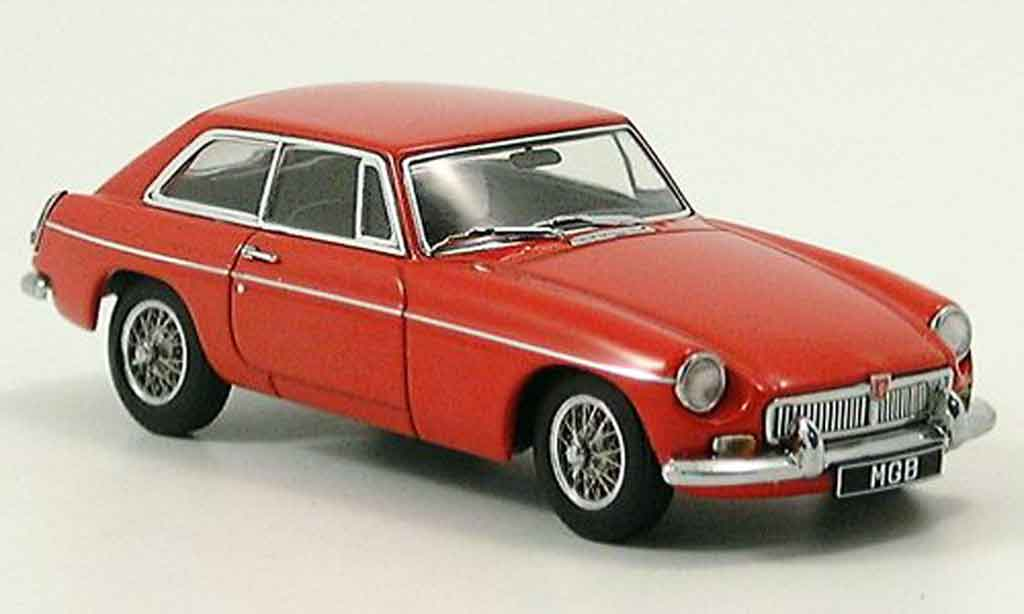 MG B 1/43 Autoart GT Coupe MK II red 1969 diecast model cars