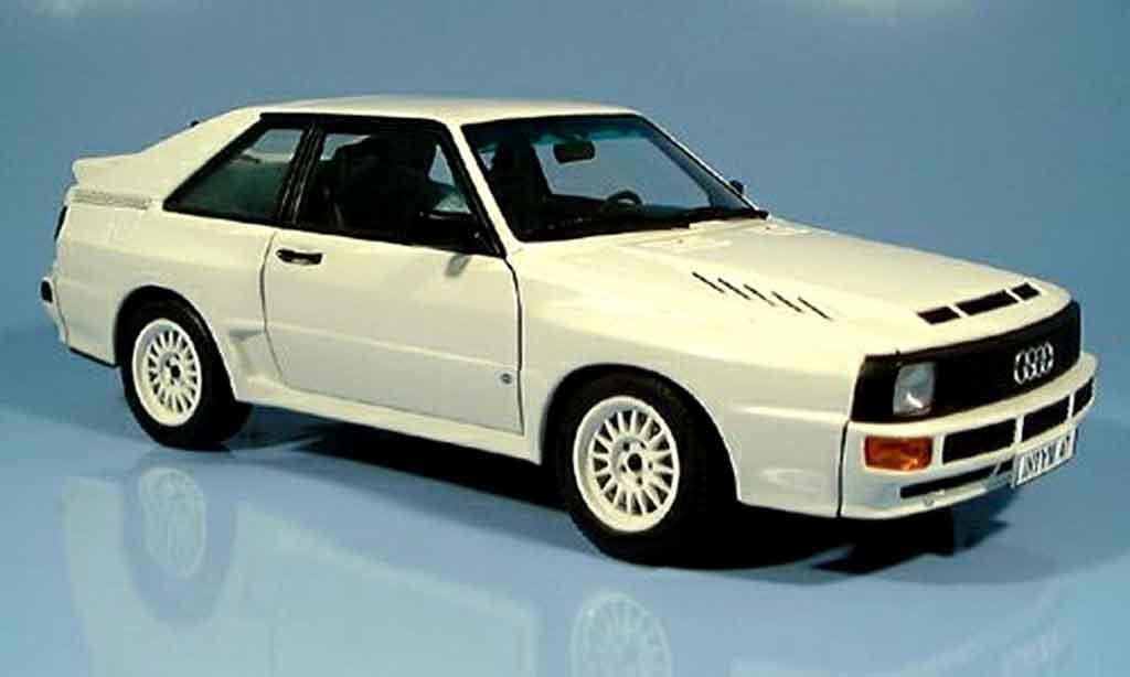 Audi Sport Quattro 1/18 Autoart swb blanche 1984 miniature