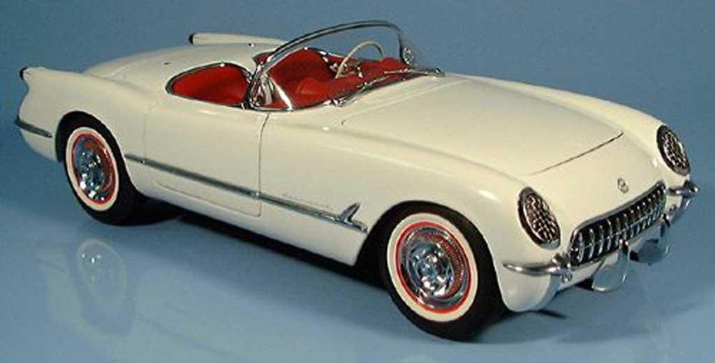Chevrolet Corvette C1 1/18 Autoart white 1953 diecast