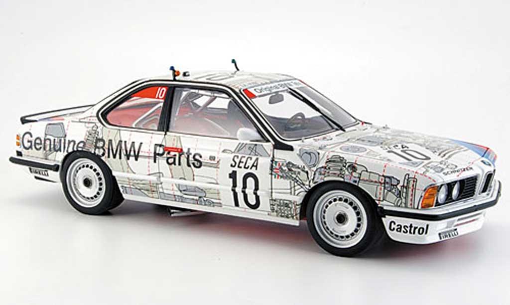 Bmw 635 CSI 1/18 Autoart m gruppe a 1986 miniatura