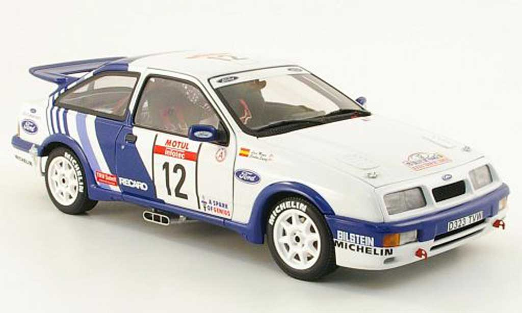 Ford Sierra Cosworth 1/18 Autoart no.12 ford motorsport rallye korsika 1988 c.sainz / l.moya diecast model cars