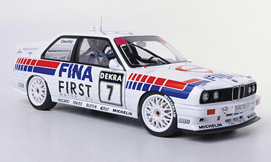 Bmw M3 E30 1/18 Autoart DTM No.7 Fina J.Cecotto DTM-Saison 1992 diecast model cars