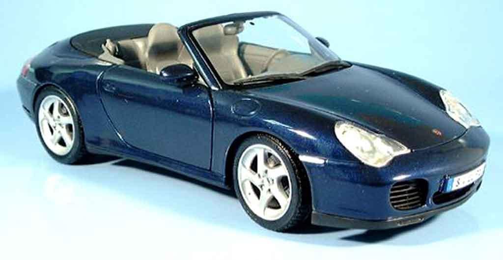 Porsche 996 Cabriolet 1/18 Maisto 4S bleu 2003 modellautos