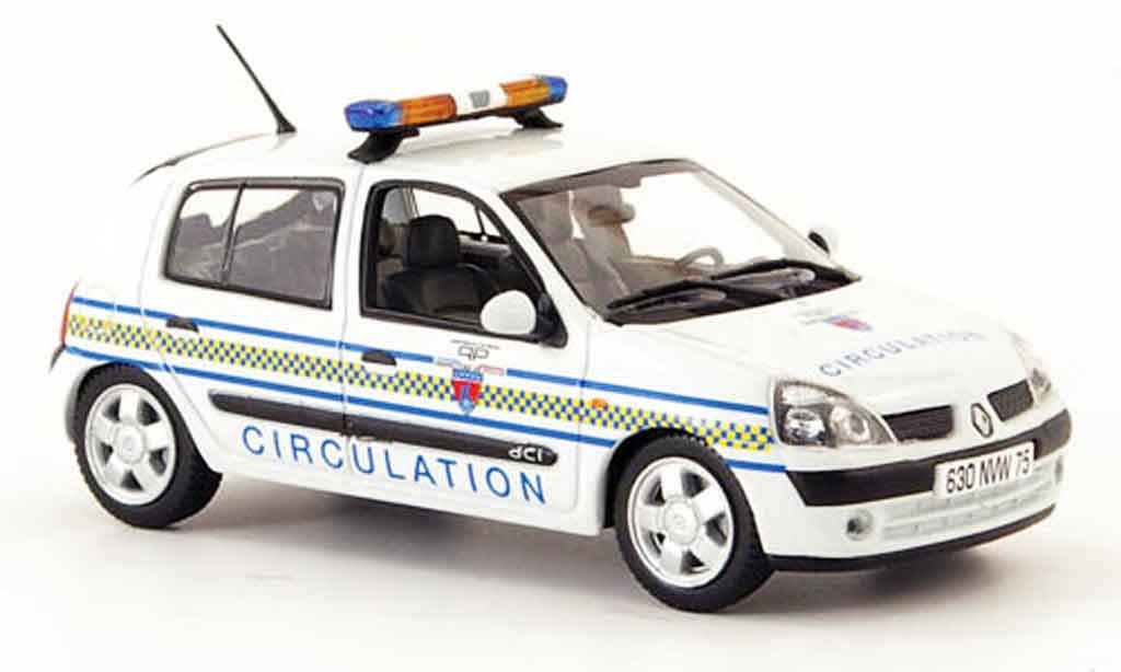 Renault Clio 1/43 Norev circulation paris police (fr) 2002 miniature