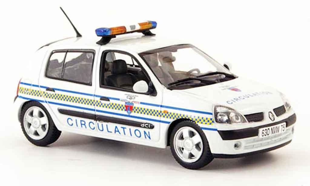 Renault Clio 1/43 Norev circulation paris police (fr) 2002 modellautos