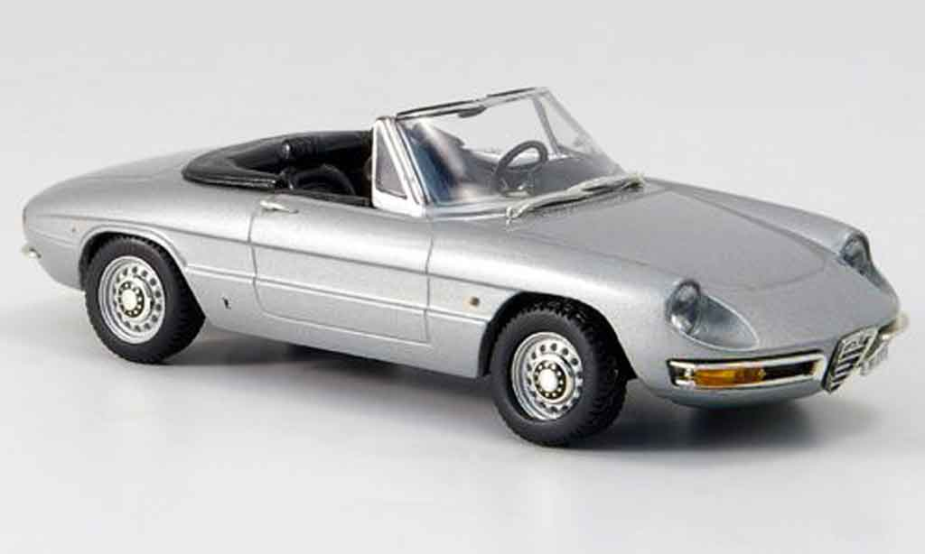 Alfa Romeo Spider 1/43 Vitesse duetto gray metallisee offen 1966 diecast